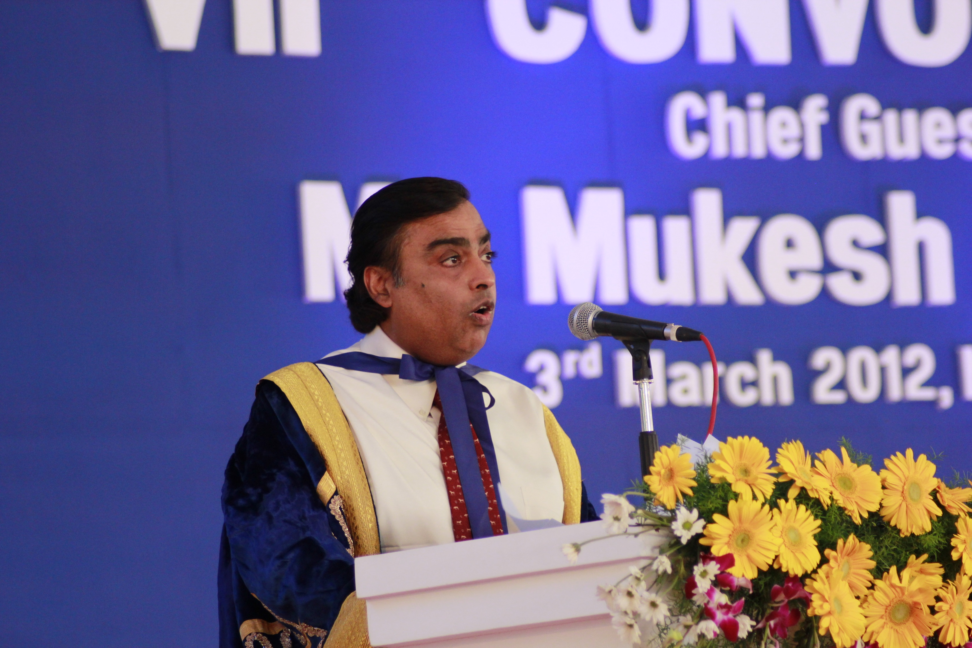 Mukesh Ambani at IMTN